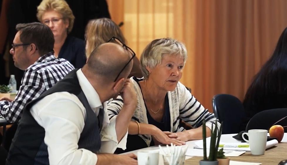 Publik vid seminarium om arbetsmiljö för småföretag 10 oktober.